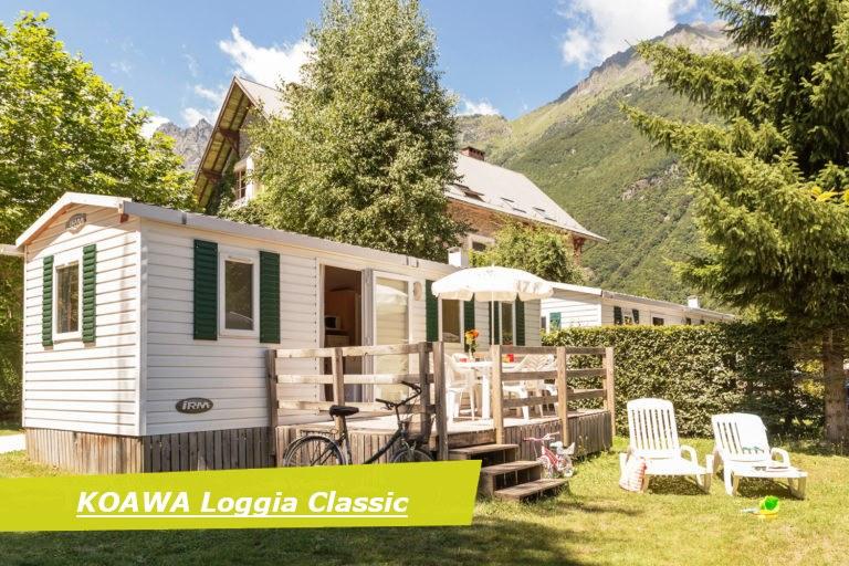 loggia exterieur camping Alpes d'Huez piscine montagne Isère