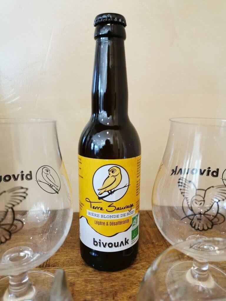 Bière bio artisanale Bivouak,blonde,terre sauvage,33cl, Sainte Jalle