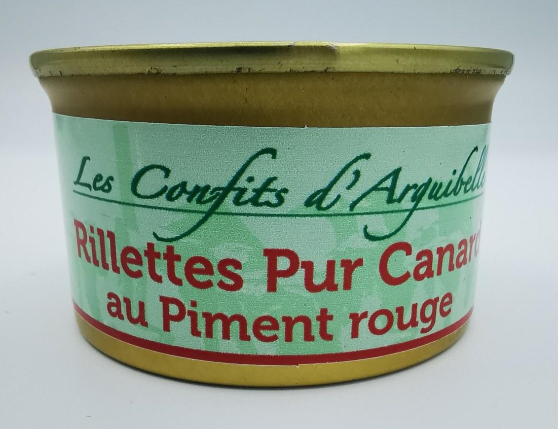 Rillettes Pur Canard au Piment rouge - Les Confits D'Arguibelle - charcuterie - vallée d'aspe - local