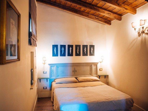 Rifugio di Cora Appartamenti Castello Santa Margherita Camera da letto