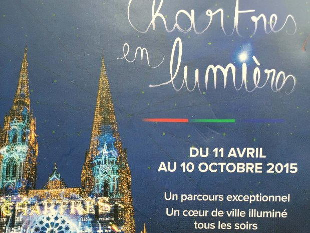 Chartres lightening