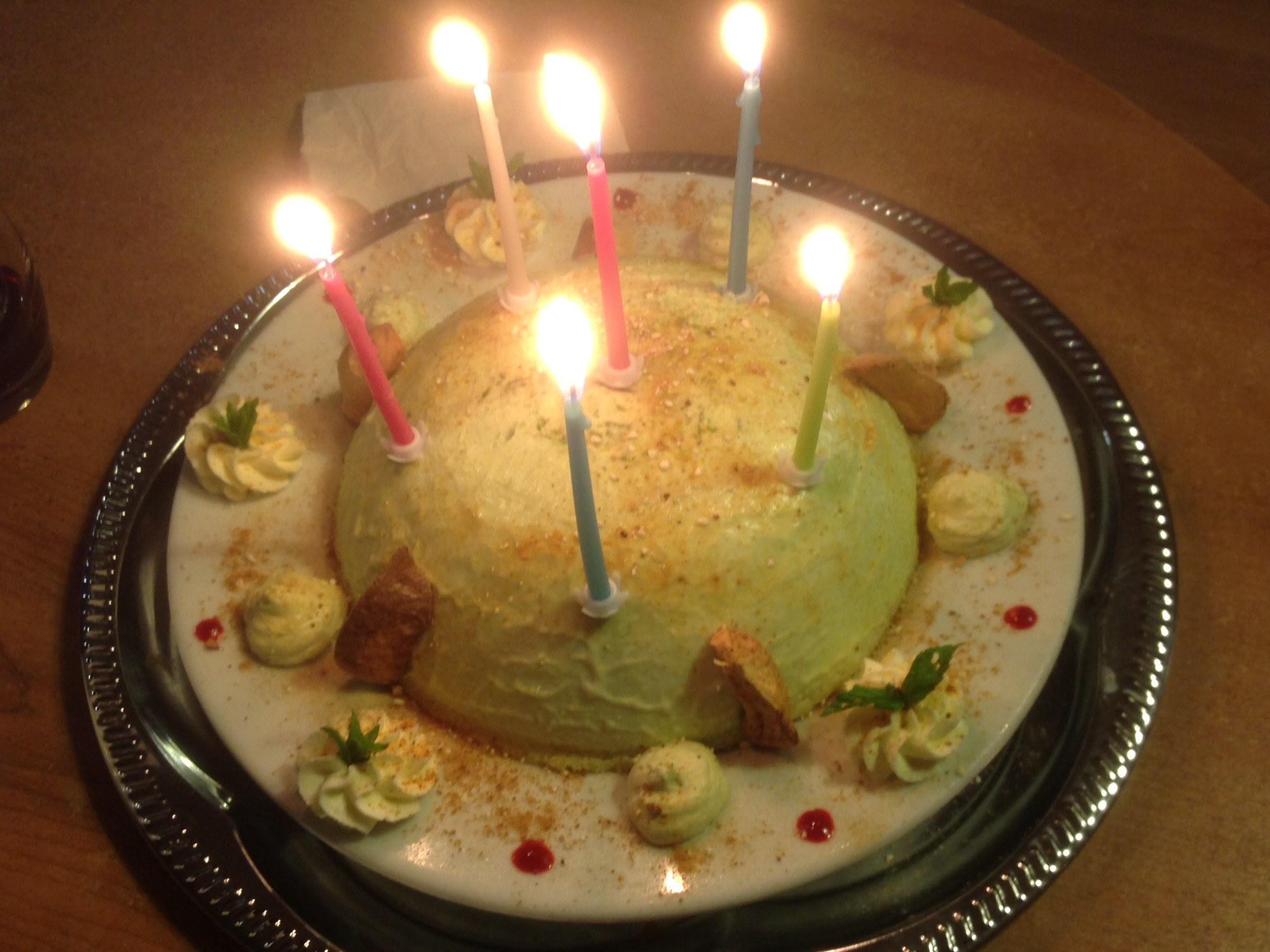 """Gâteau d'anniversaire sur commande """" le grillotin pistache"""""""