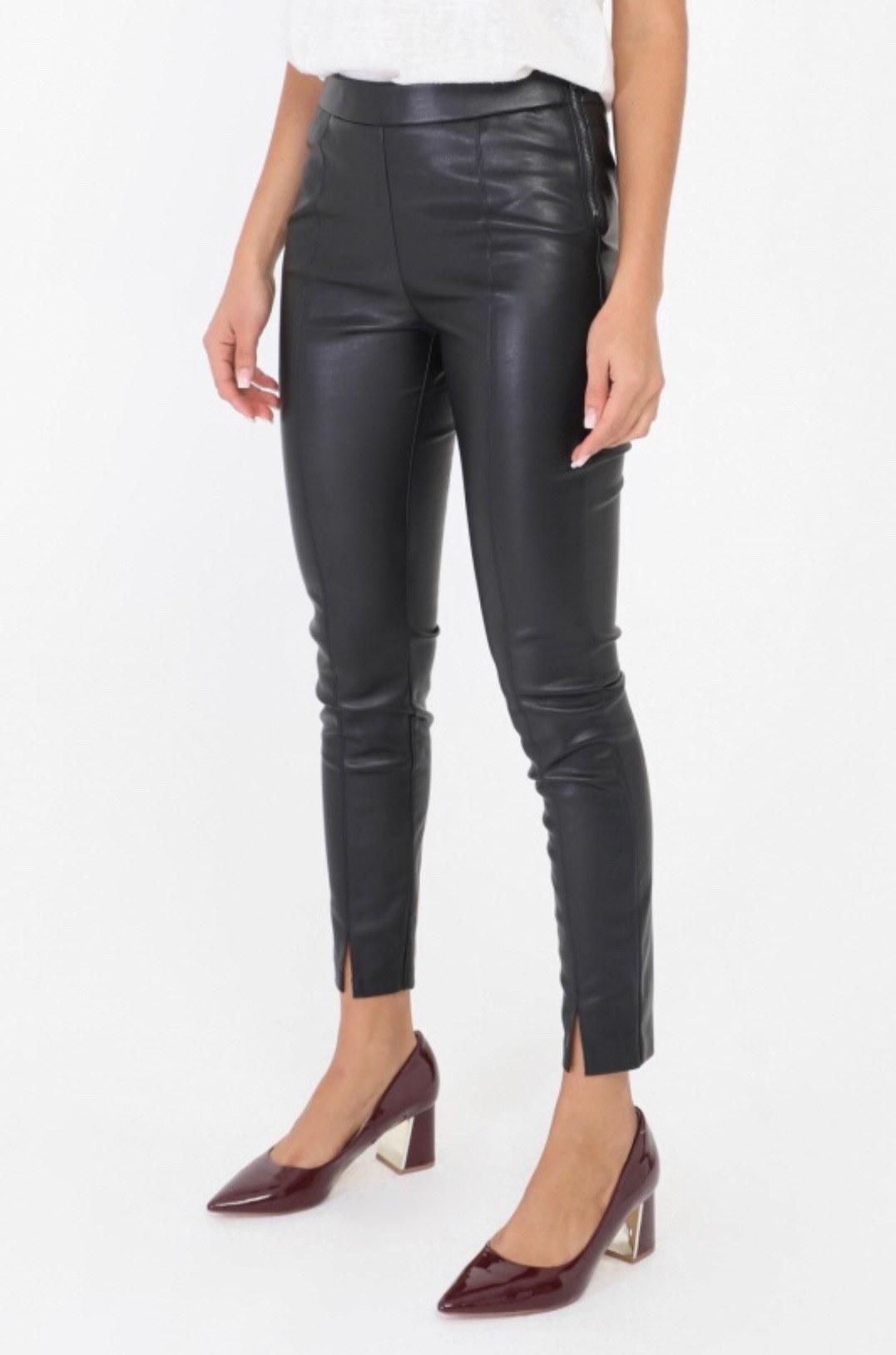 pantalon noir fendu