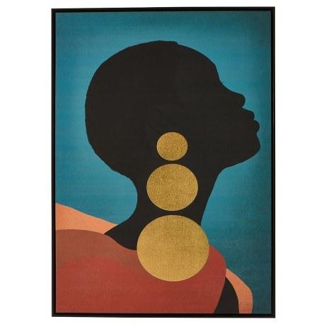 tableau femme bleue