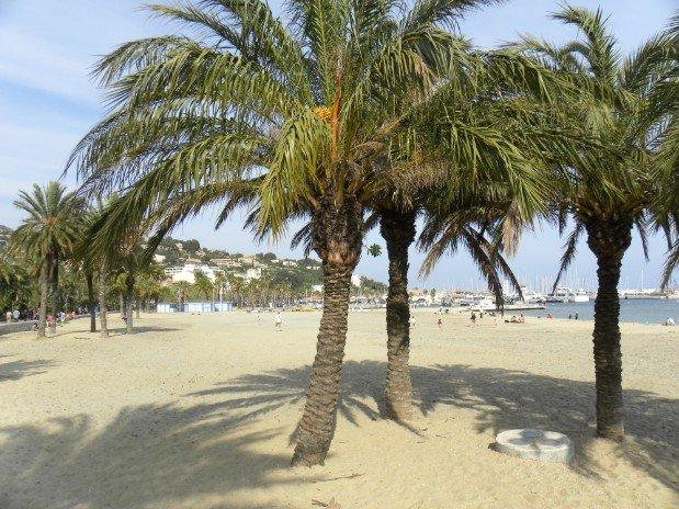 plage en face de l'hotel (50 m)vue cote port