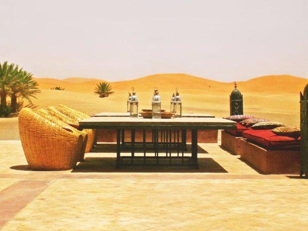 terrasse hotel kanz erremal Maroc