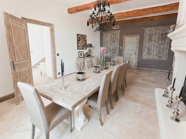 sal à manger la bastide maison hotes luxe provence