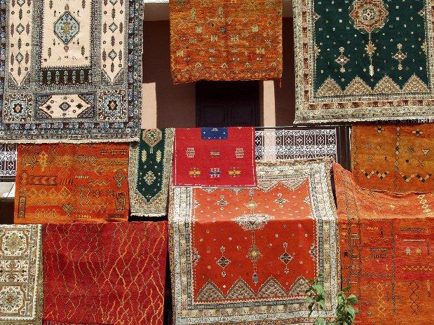 tapis marrakech - souks - marrakech - maroc - riad chamali
