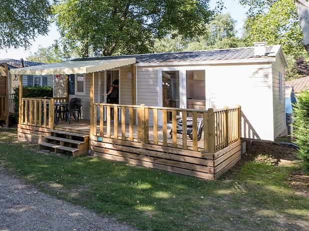 Mobil-home loft confort + camping familial Isère nature parc aquatique