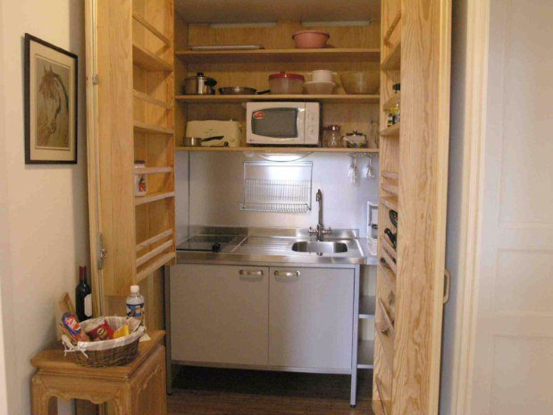 Kitchenette Appartement Ivoire Domaine de Bassilour