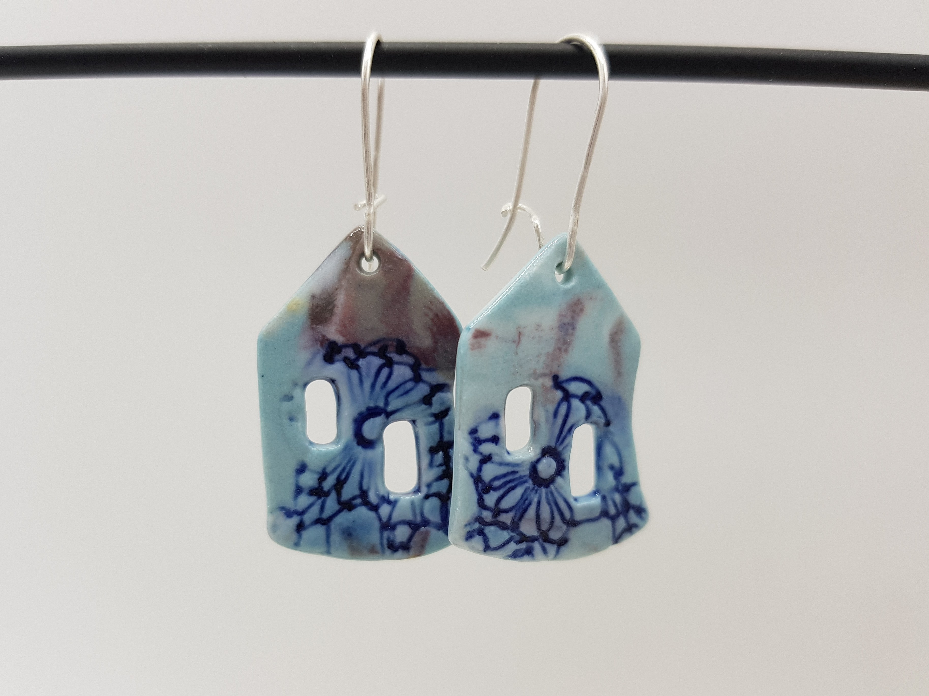 Boucles d'oreilles Maison - Collection Burano - Coloris Bleu clair