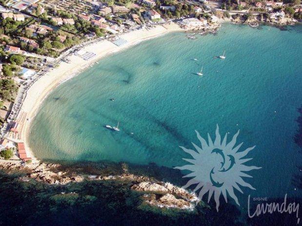 plage saint clair - le lavandou - hotel anglade