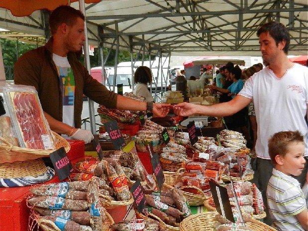 camping Le Clapas, Markt der producteurs
