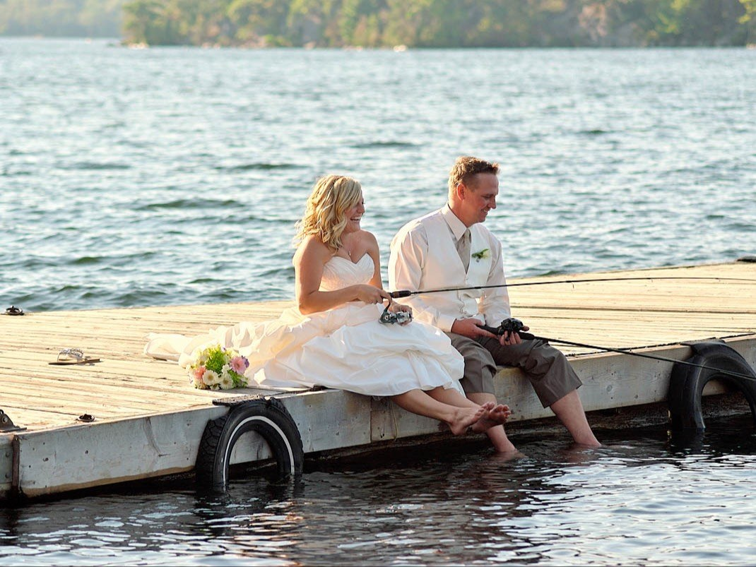 wedding on dock