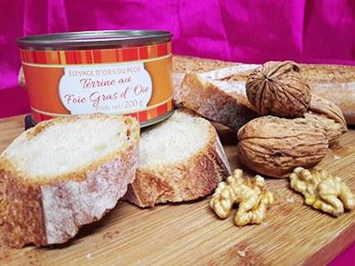 Terrine Paysanne au Foie gras d'Oie