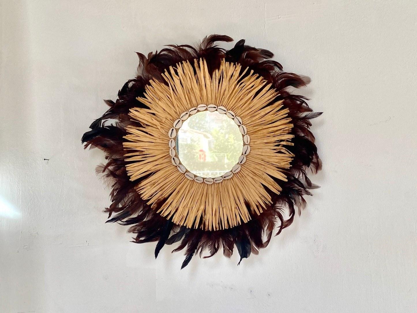 miroir plume