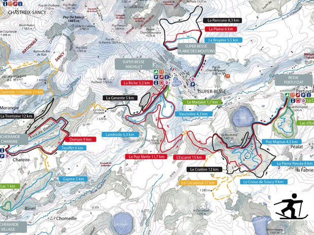 ski - tourisme - auvergne - la bourboule - mont dore - camping poutie - domaine skiable - puy de sancy - sud