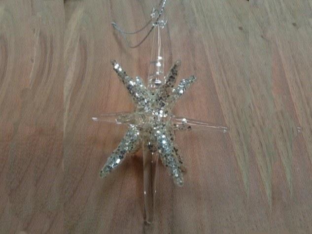 étoile en verre  noël Merveilles et Cie