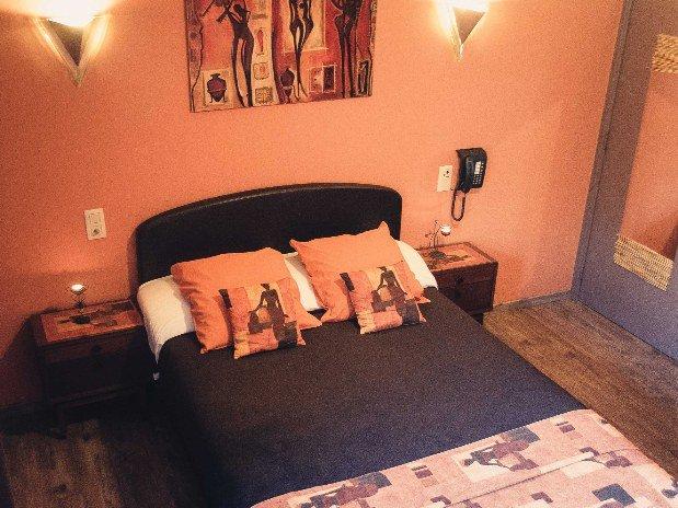 Lit Chambre double L'Afrique Hotel Robinson