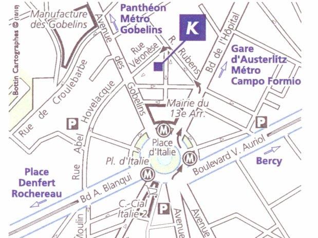 paris hotel acces