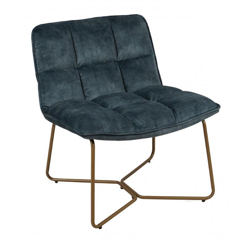 fauteuil butano bleu pétrole