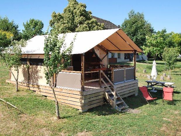 camping Le Clapas lodgetent Livingstone