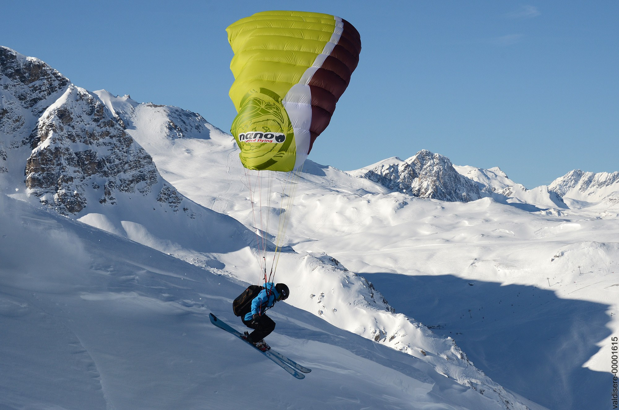Parepente - ski parapente - Val d'isère