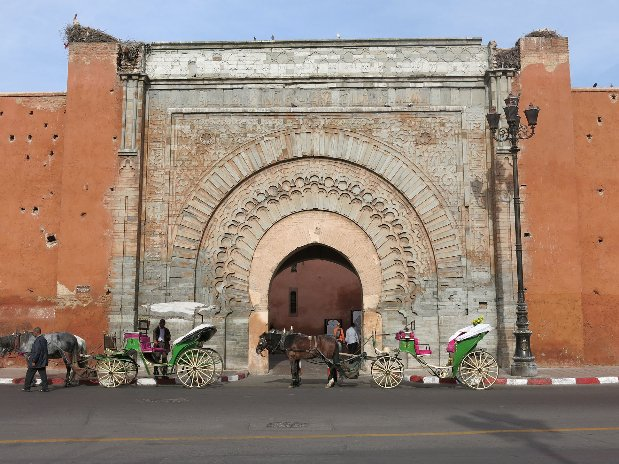 bab agnaou door - marrakech - morocco