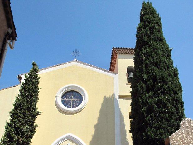 église le lavandou - marché provençal - le lavandou