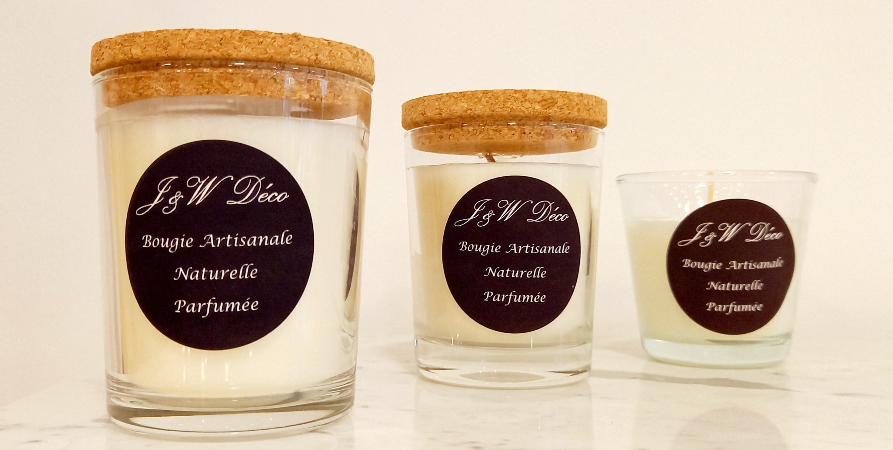 Bougies naturelles parfumées lots