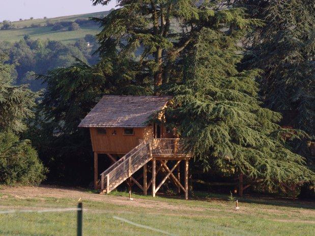 cabane arbres Loire domaine grand cèdres