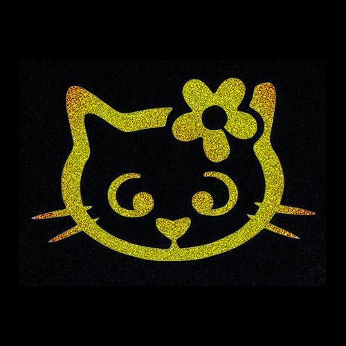 Pochoir chat fleur