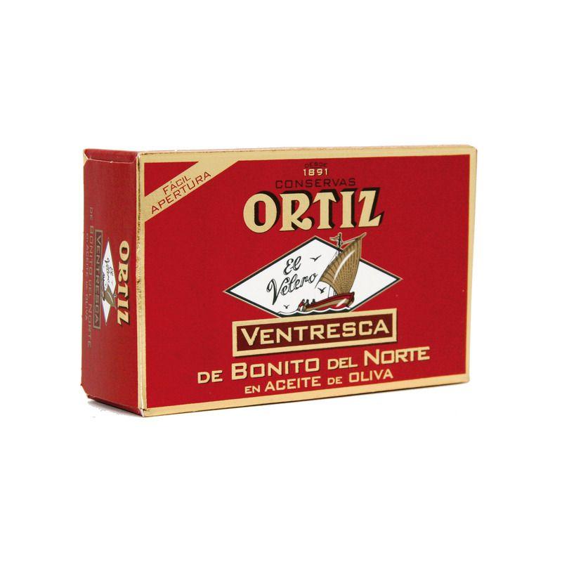 Ventrèche de thon blanc germon ORTIZ boîte 110g 55LD