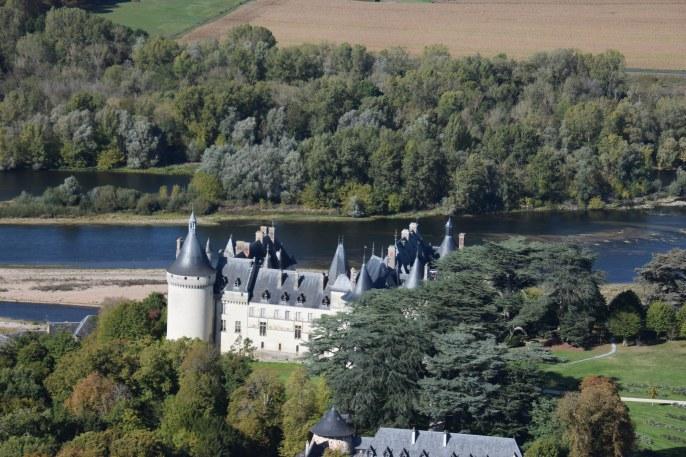 Château de Chaumont sur Loire à bord de l'autogire de LaMaugerieUlm-Autogire