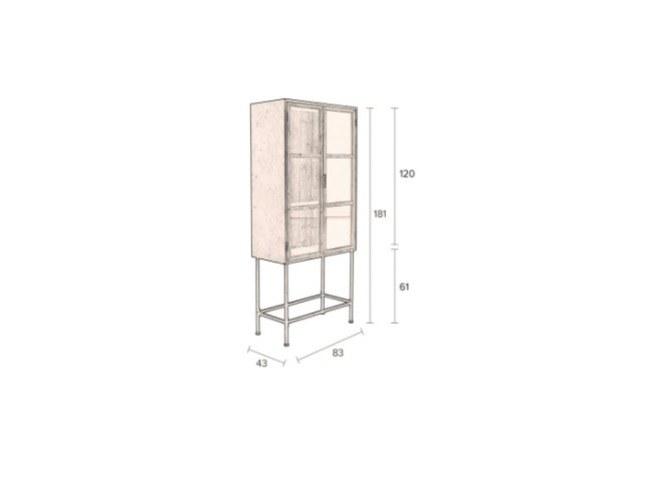 Détail armoire bois et fer
