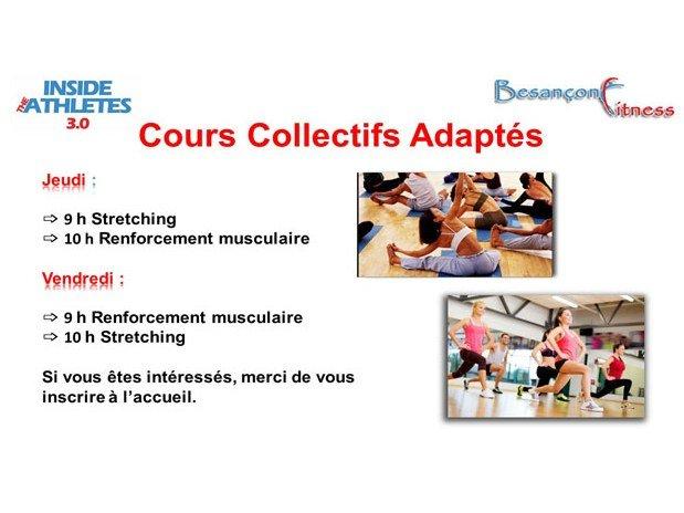 cours collectifs adaptés éveil musculaire renforcement musculaire besançon fitness palente inside the athletes