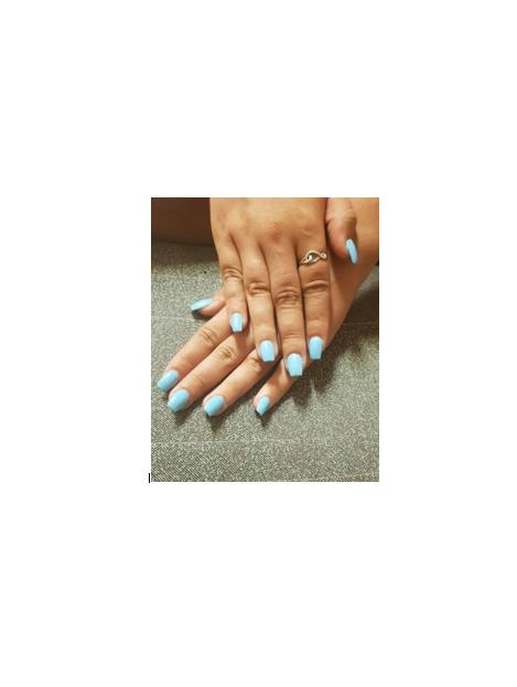 ongle bleu reel