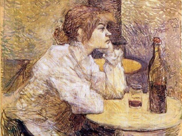 Zeichnung von Toulouse Lautrec, Museum in Albi