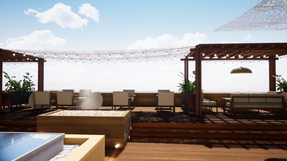 rooftop hôtel domaine d'aiguebelle