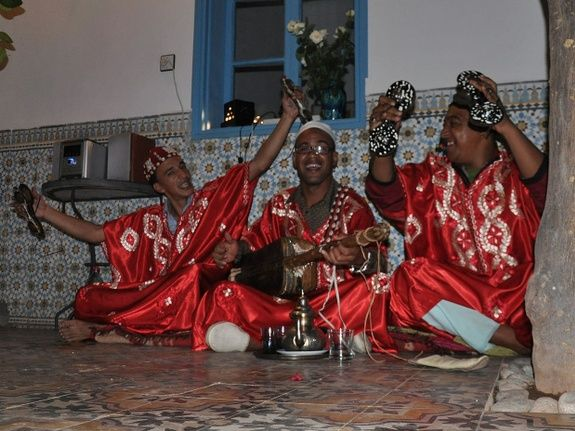 music entertainment at night - riad chamali - marrakech - morocco