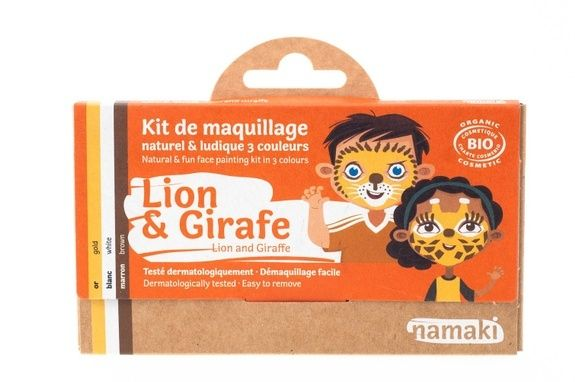 kit de maquillage bio Namaki 3 couleurs Lion & Griafe - vue face