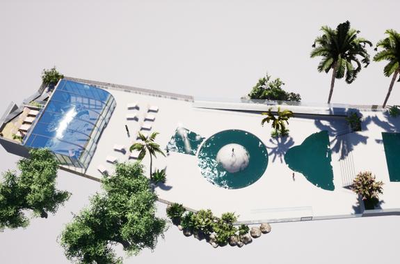 Plan d'ensemble projet piscine 2021