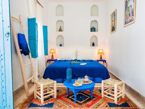 chambre double 2 riad chamali medina marrakech maroc