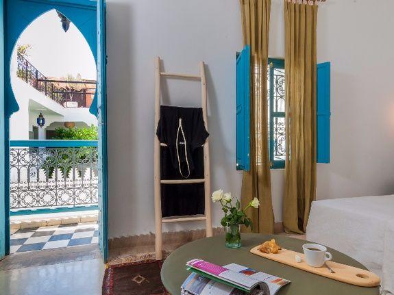 accès chambre double supérieure 2 riad chamali médina marrakech Maroc