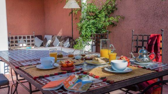petit-déjeuner Terrasse Riad Chamali Marrakech