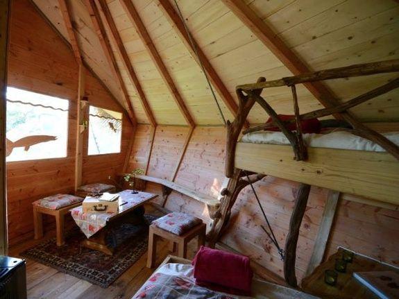 Cabane de Guerlédan chambre