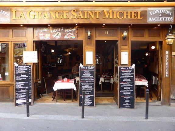 restaurant Saint Michel Paris façade