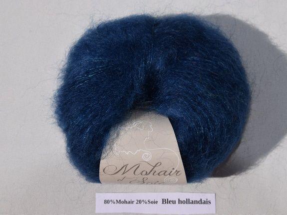 Mohair et Soie Bleu Holandais du Mohair du pays de Chambord