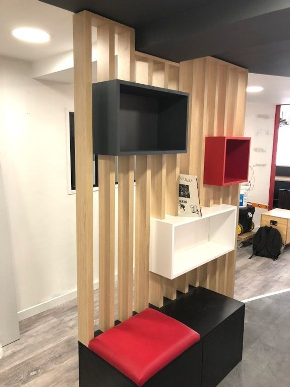 mobilier assise attente opticien
