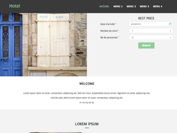 Créer site internet hotel